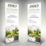 Roll-up banner BMO Precision Parts