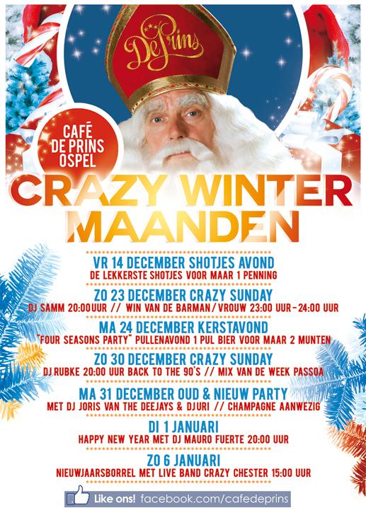 Evenementen poster Café de Prins Ospel - Go Gurus! interactive media: www.go-gurus.nl/werk/grafisch-ontwerp/evenementen-poster-cafe-de-prins