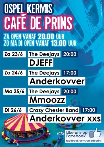 Kermis poster 2012 Café de Prins Ospel - Go Gurus! interactive media: www.go-gurus.nl/werk/grafisch-ontwerp/kermis-poster-2012-cafe-de-prins